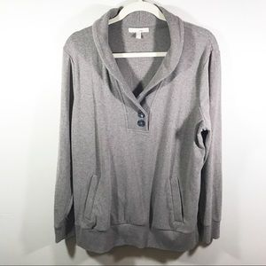 Banana Republic brown / grey pull over sweater